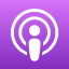 Apple Podcasts icon'
